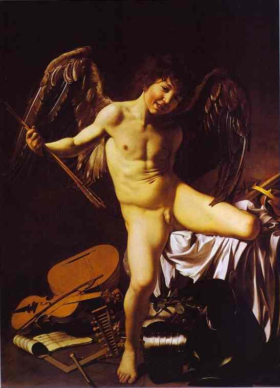 Cupido. c.1601. Óleo sobre tela