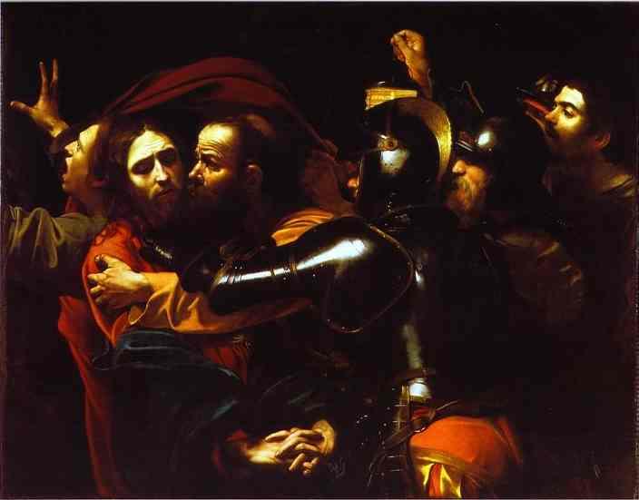 A Traição de Cristo. 1602-1603. Óleo sobre tela