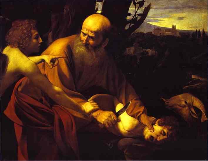 O sacrifício de Isaac. c.1603. Óleo sobre tela