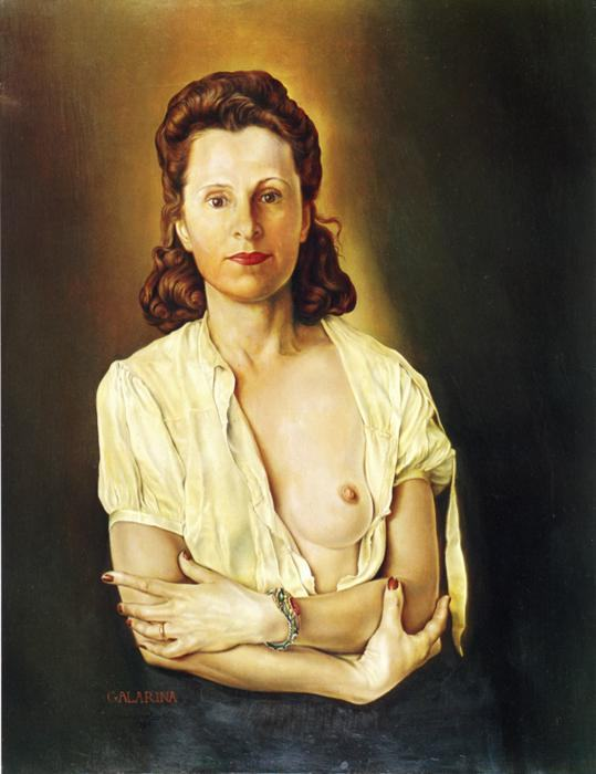 Salvador Dali Galarina. 1944 - 45. Oil on canvas