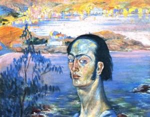 Salvador Dali Self-Portrait with Raphaelesque Neck. 1921-1922. Oil on canvas. 41.5 x 53 cm