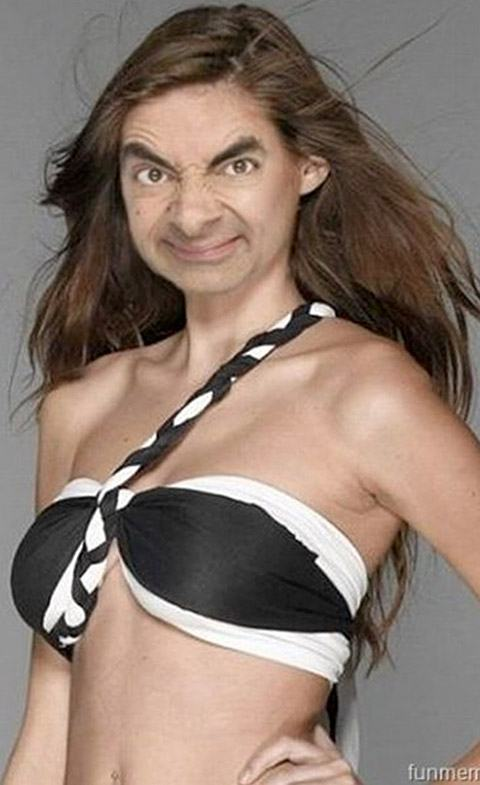 Mr Bean Had A Daughter Montagens de Fotos Mr. Bean photoshop