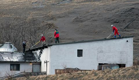 Eyjafjallajokull-telhado