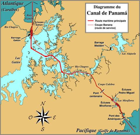 Mapa do canal (francês).