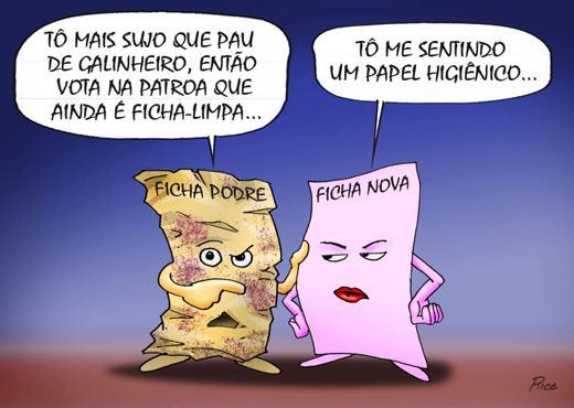 "Charge ""Projeto"" ficha limpa II Rice"