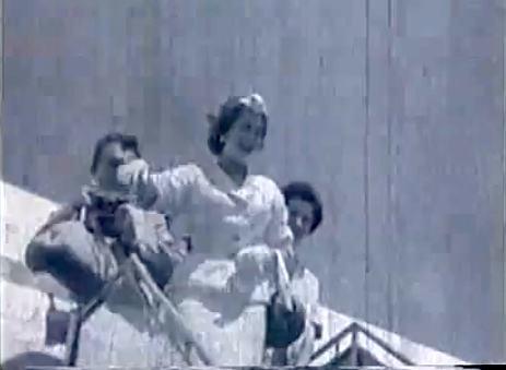 Recepção de Martha Rocha quando trouxe o Miss Universo 1955