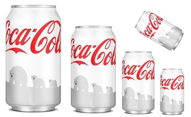 Inédito: embalagem da Coca-Cola será branca