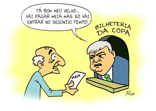 Meia entrada para idosos na copa de 2014: Brasil X Teixeira