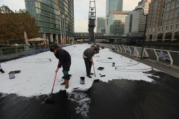 Maior pintura 3D do mundo está em Londres: Joe Hill