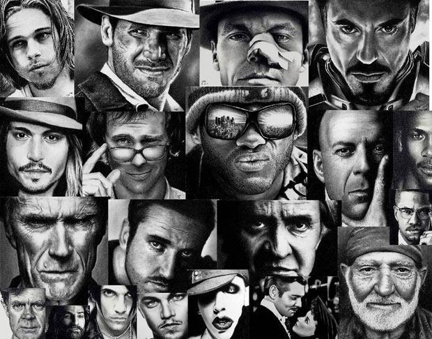 Fascinantes desenhos a lápis: retratos de Rick Fortson