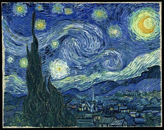 Noite Estrelada de Van Gogh retratada em 7067 peças de dominó