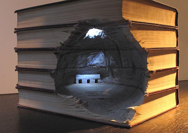 Maravilhosas esculturas feitas com livros: Guy Laramee