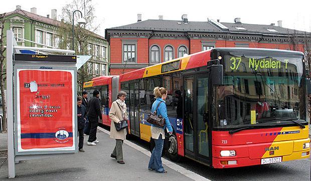 Ônibus movido a merda em Oslo
