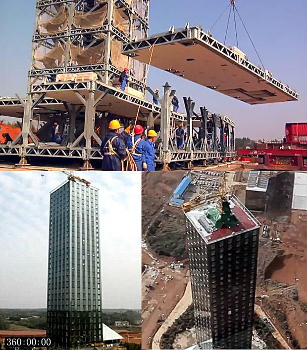 Na China um prédio de 30 andares é construído em 15 dias