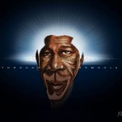 Caricatura genial de Morgan Freeman por Rice Araújo