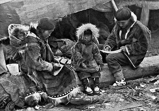 familia-de-esquimo-alaska